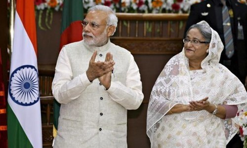 Modi, Hasina open border checkpost to spur trade