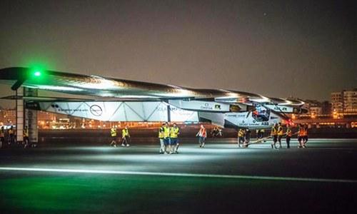 Solar Impulse 2 lands in UAE, ending round-the-world trip