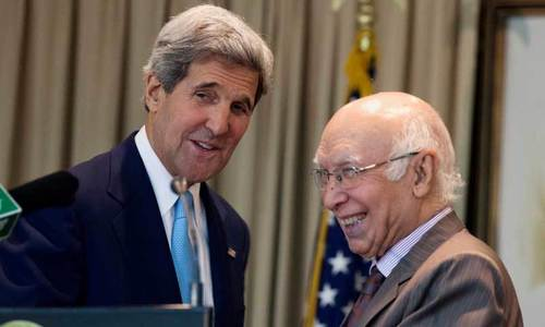 US to expand multidimensional ties with Pakistan, John Kerry assures Aziz
