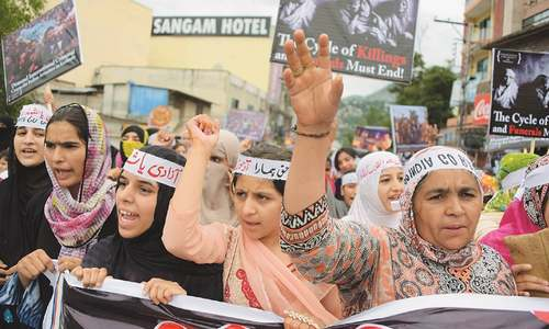 AJK protesters call for action against Indian atrocities in held Kashmir