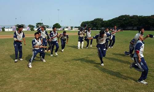 Young Pakistani cricketers shine in India, do press-ups to celebrate tournament win