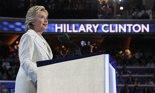 Clinton accepts historic nomination, slams Trump's vision