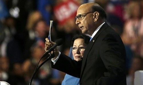 پاکستانی نژاد امریکی فوجی کے والد ٹرمپ پر برس پڑے