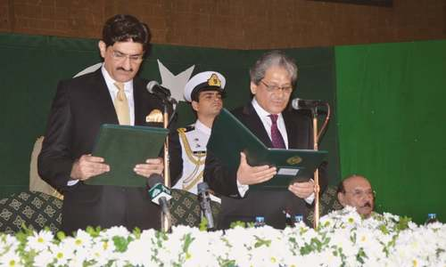 Murad Ali Shah sworn in as chief minister of Sindh