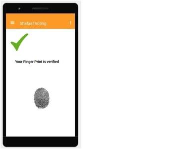 Fingerprint verification on the app