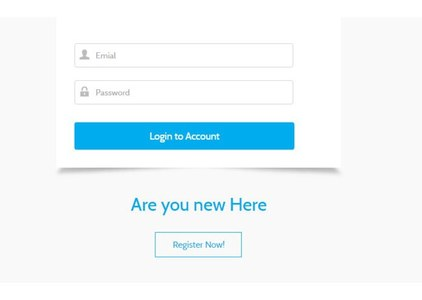 Login page of the app