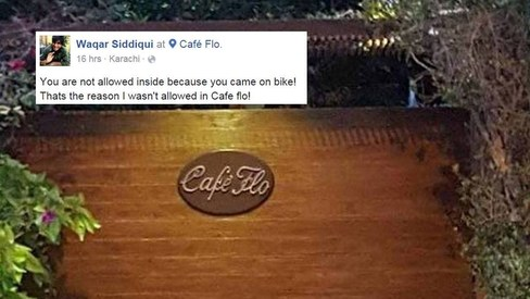 Social media divided over Cafe Flo's alleged discrimination against motorbiker