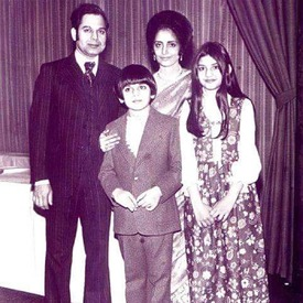 Zoheb and Nazia Hassan with their parents, Basir and Muneeza Hassan. —Photo provided by Zoheb Hassan