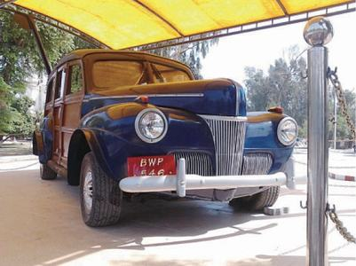 Nawab's vintage car on display