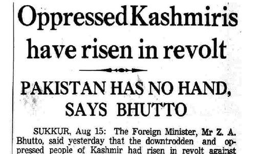 August 16, 1965: 'Oppression' and 'revolution' in Kashmir. ─ Dawn