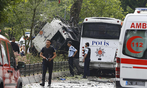 Three killed, 40 wounded in PKK car bomb attack in eastern Turkey