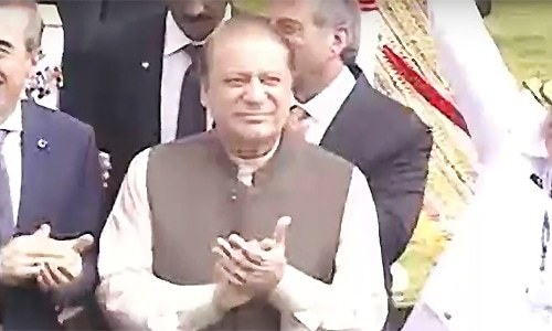 PM Nawaz launches 17,000-tonne Pakistan Navy Warship fleet tanker at Karachi Shipyard