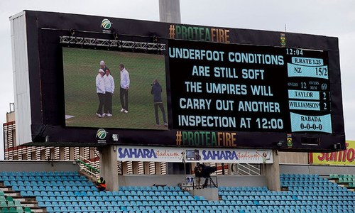 Re-laid outfield causes Durban abandonment