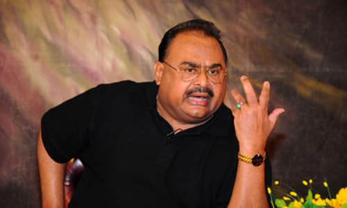 What did Altaf say in his diatribe?