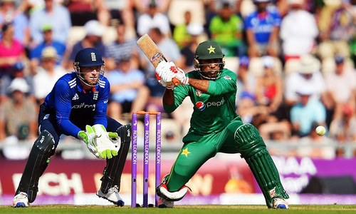 First ODI: Sarfraz, Malik fall after brief rain delay