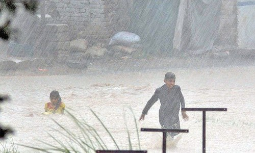 Heavy rainfall in capital confined to small area