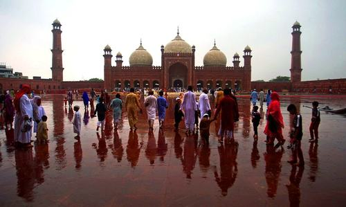 Lahore's iconic mosque stood witness to two historic moments where tolerance gave way to brutality