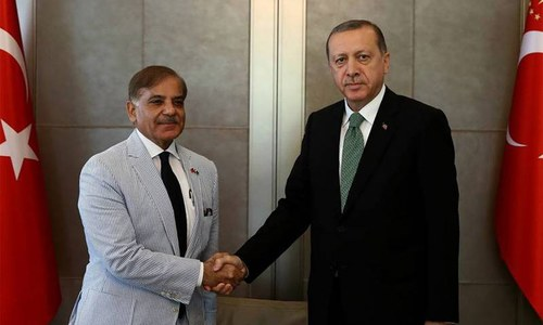 Shahbaz calls on Erdogan