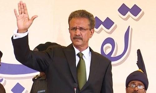 وسیم اختر نے کراچی کے میئر کا حلف اٹھالیا