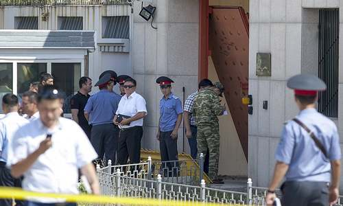 One dead, three wounded in suicide blast at Chinese embassy in Kyrgyzstan