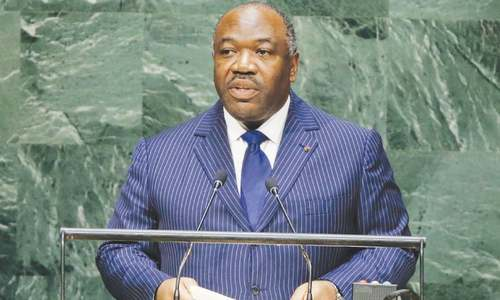 Gabon's president  wins re-election