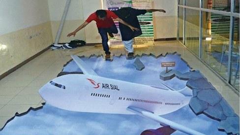 Pakistan's first 3D street artist seeks government support