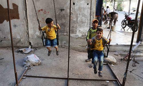 Syrians celebrate Eid as guns fall silent in fragile truce