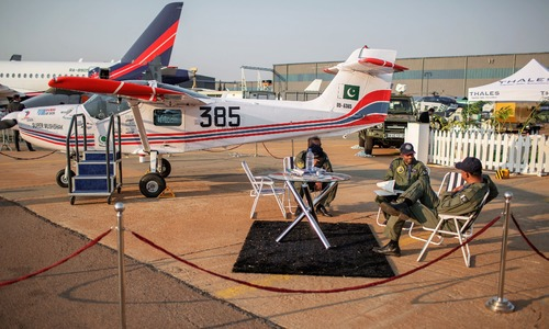 Aviation experts show keen interest in Pakistan-built Super Mushshak at African defence expo
