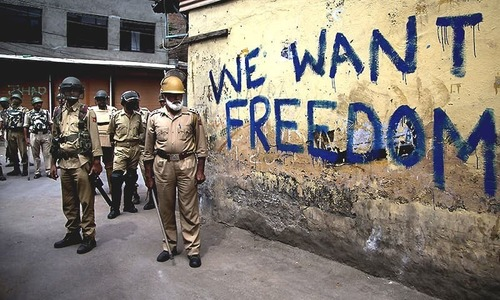 'Indian attempts to deny illegal occupation of Kashmir is a travesty of history'