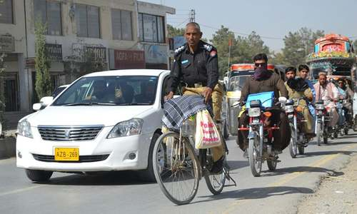 Meet Nazar Muhammad, the police officer who rides his bicycle to work