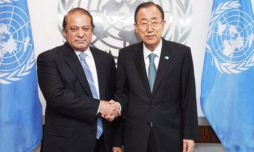 Nawaz gives UN chief dossier on Indian human rights violations in held Kashmir