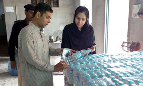 Factory sealed for supplying substandard bottled water
