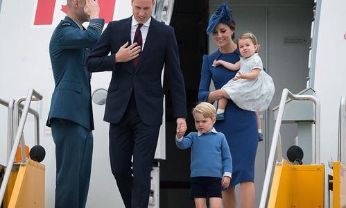 ننھاشہزادہ پیاری بہن کے ساتھ کینیڈاکے دورے پر