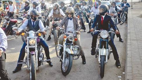 The Distinguished Gentleman's Ride cruises through Karachi