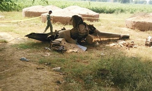 Unmanned PAF aircraft crashes near Mianwali