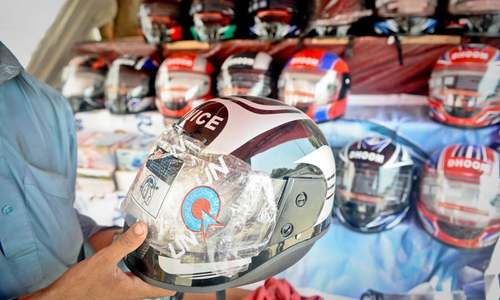 Helmet prices rising amid blame game