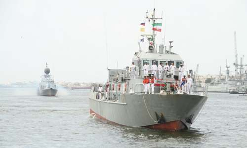 Iran's naval fleet docks at Karachi for joint exercises ahead of 'Aman 17'