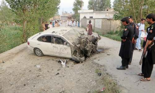Elder escapes bomb blast in Salarzai
