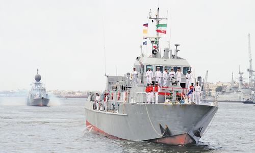 Four Iranian ships welcomed at Karachi port