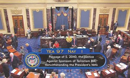 US Congress votes to override Obama's 9/11 bill veto