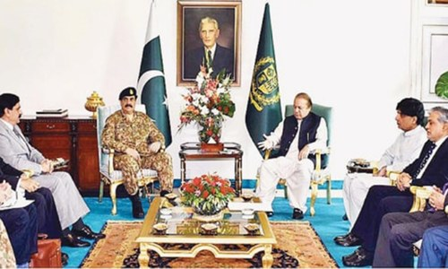 Top civil-military leadership reaffirms support for Kashmiris' struggle