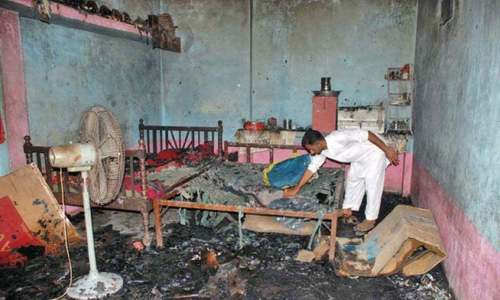 Five children burnt alive as fire engulfs boarding house in Mirpurkhas