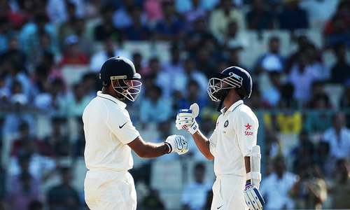 Pujara, Rahane lift India after poor start
