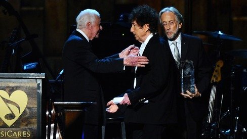 Legendary musician Bob Dylan wins the Nobel Prize for Literature