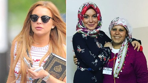 Lindsay Lohan on being 'crucified' for holding the Quran in the US and wearing a headscarf
