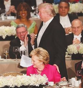 Trump and Clinton carry barbs into charity dinner