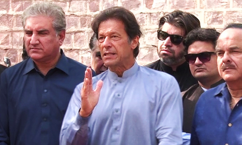 Nawaz will be responsible if 'third-power' steps in after protest: Imran