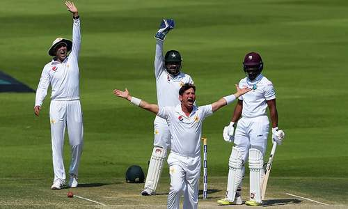 Yasir Shah takes four as West Indies out for 224