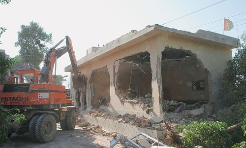 Three MQM-London offices demolished in Hyderabad