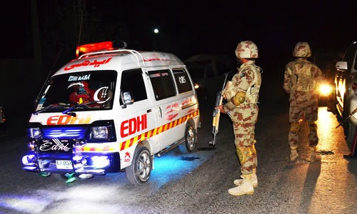 In pictures: Militants storm police training academy in Quetta